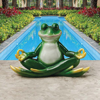 Park Avenue Collection Strike A Pose Yoga Frog Statue