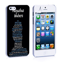 the fault in ours stars Agustus iPhone 4, 4S, 5, 5C, 5S Samsung Galaxy S2, S3, S4 Case