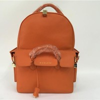 SPBEST Buscemi Large Leather Backpack in Orange