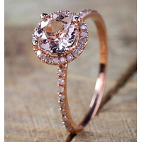 Jewelry Hot Sale New 18K Rose Gold Plated Micro Inlay Ring