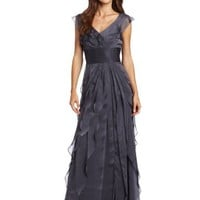 Adrianna Papell Women's Tiered Chiffon Gown