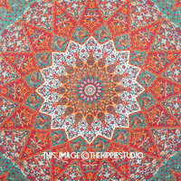 kaleidoscopic Star Hippie Tapestry Wall Hanging, Mandala Beach Tapestries Throw, Bohemian Boho Indian Bedspread Tapestry Room Decor, Gypsy Dorm Bedding, Tapestries for College, TheHippieStudio Tapestry