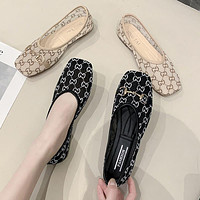 LV breathable mesh printed women's shoes