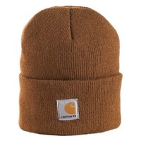 Carhartt® Foldover Knit Hat in Brown