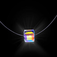 Crystal Cube Firejewel Necklace