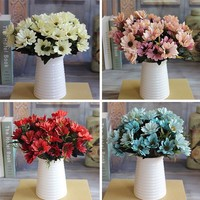French Rose Bouquet Artificial Silk Fake Peony Flower Table Spring Daisy Wedding Home Decor Party Red