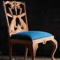 Handcarved Menagerie Rabbit Dining Chair by Anthropologie