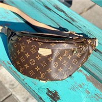 Louis Vuitton LV canvas men and women all-match waist bag shoulder bag