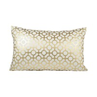 Botola 26x16 Lumbar Pillow Snow,Gold