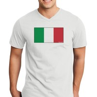 Italian Flag - Italy Adult V-Neck T-shirt by TooLoud