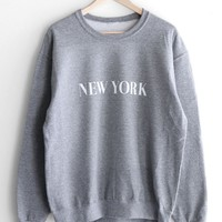 New York Oversized Sweatshirt - Grey