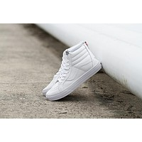Vans SK8-HI PRO White High Top Men Flats Shoes Canvas Sneakers Women Sport Shoes