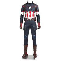 The Avengers Age of Ultron Captain America Cosplay Costume