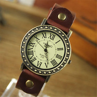 Girls Rivet Leather Strap Watch Womens Vintage Casual Sports Watches Best Christmas Gift