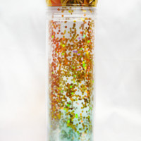 22 oz ombre glitter water bottle