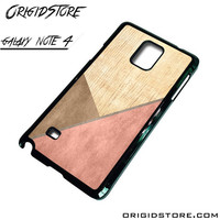 Chevron Wood Triangle Case For Samsung Galaxy Note 4 Case