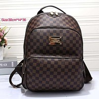 Perfect LV Women Casual School Bag Cowhide Leather Backpack