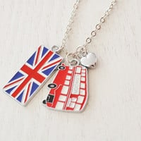 london necklace, british charm necklace, union jack, double decker bus jewelry, travel necklace, bff, london jewelry, memory of london trip