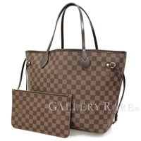 Louis Vuitton Neverfull MM Damier Ebene Rouge Tote Bag N41358 Authentic 4326878