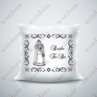 Bride To Be Wedding Framed Sentiment Bridal Gown Image Transfer for Burlap Cards Pillows Instant Download
