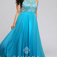 Faviana Long Plus Size Prom Dress FA-9374