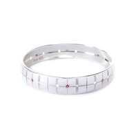 Plaid Bracelet rubies narrow
