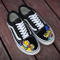 Simpsons x Vans Canvas Old Skool Flats Sneakers Sport Shoes