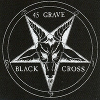 Forty-five 45 Grave Sew On Canvas Patch Black Cross Logo