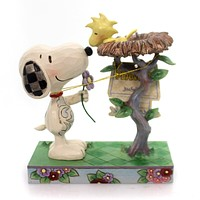 Jim Shore NEST WARMING GIFT Polyresin Snoopy Woodstock 4054079