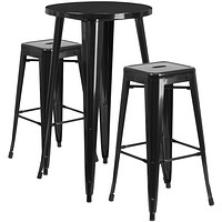 Indoor/Outdoor Chic Backless Pub Dining Set