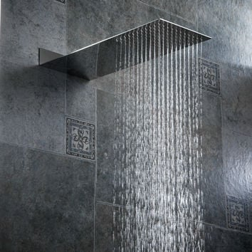 Concealed shower head Ultra thin stainless steel