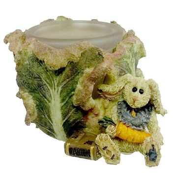 Boyds Bears Resin DAPHNE IN THE CABBAGE PATCH Glass Bearstone Rabbit 27750