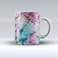 The Fibrous Watercolor ink-Fuzed Ceramic Coffee Mug