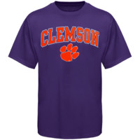 Clemson Tigers Arch Over Logo T-Shirt - Purple