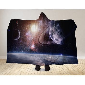 Planetary System Hooded Blanket