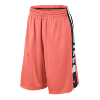 Nike Elite Stripe Men's Basketball Shorts - Bright Mango