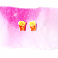 French Fry Junk Food Earrings