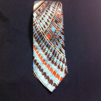 Vintage Multicolored Hand Made Necktie by Scappino / Mens Accessories /Mens Fashion / Fathers Day Gift