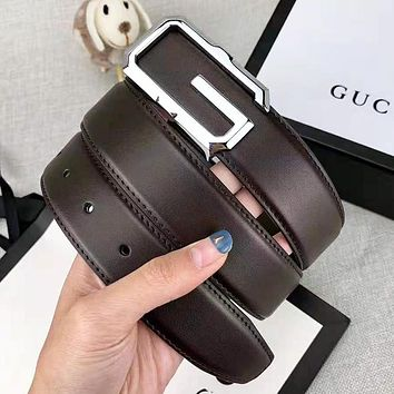 Givenchy New fashion letter head buckle couple belt Coffee With Box