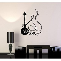 Vinyl Wall Decal Hookah Shisha Smoking Smoke Arabic Decor Stickers Unique Gift (ig3344)