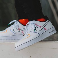 Nike Air Force 1 AF1 inner ‮ all set ‬ palm air sole sports shoes