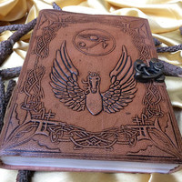 Handmade leather Journal Diary Notebook Thanksgiving Christmas Xmas gift