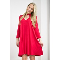 Ruby Red Bamboo Dress