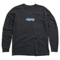 Drop U Pigment Dyed Longsleeve T-Shirt Black