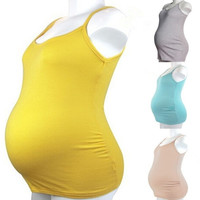 LUM fashion candy colors cotton comfortable/healthy pregnant maternity women's vest tank Tops = 1945814724