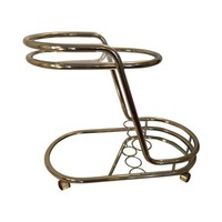 Pre-owned Mid-Century Modern Gold-Toned Bar Cart