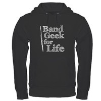 Flute Band Geek Hoodie by marchingstuff