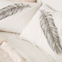 Plum & Bow Feather Pillowcase Set