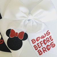 Minnie Mouse Bows Before Bros Hair Bow
