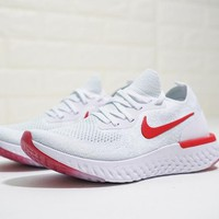 "Nike Epic React Flyknit ""Red&White"" Runnning Shoes"